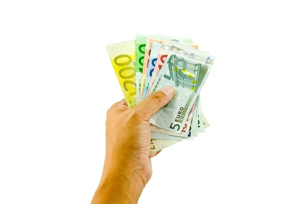 Hand holding banknotes  photo
