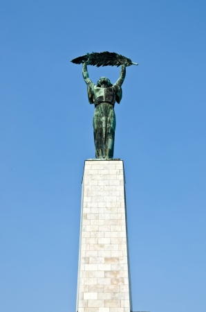 Liberty Statue upon Gellert Hill in Budapest, Hungary