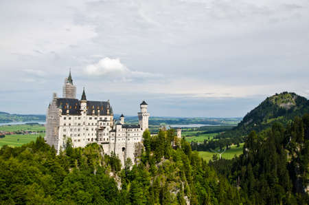 Neuschwanstein castle in Bavaria, Germany  Editorial
