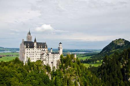 Neuschwanstein castle in Bavaria, Germany  Editorial