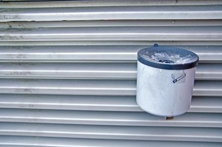 mounted: Wall mounted ashtray Stock Photo