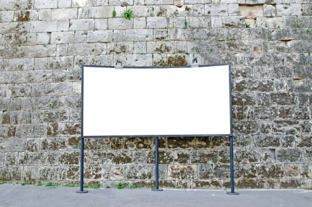 Blank billboard with clipping path photo