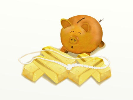 Wealth pig Gold pig photo