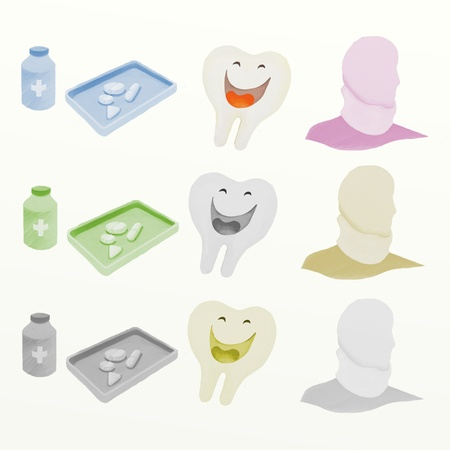 vitamine: Medical Device with pill Neck Brace and Dental Hygiene