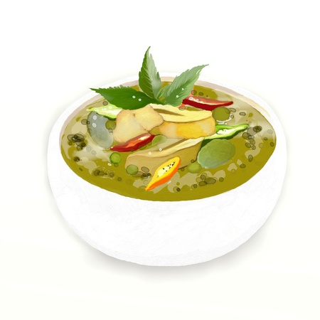 Thai green curry is one of the most famous curry recipes in the world  photo