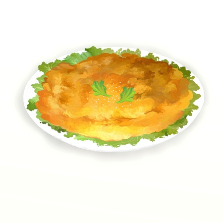 Traditional Thai omlette, it s very simple but delicious   photo