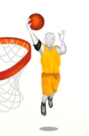 Joueur de basket-ball Basket-ball propos � marquer dans l'action de tir photo