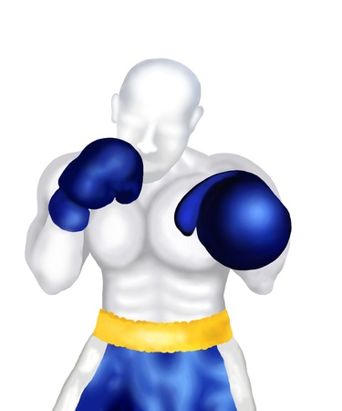 knock out: Boxing   Boxer Standing in Ring Ready for Fighting A Boxing Match Stock Photo