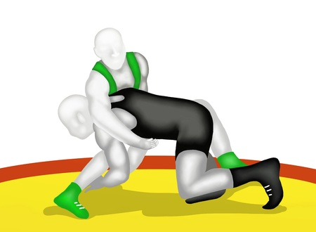 knock out: Wrestling is A Physical Competition, Between Two Competitors