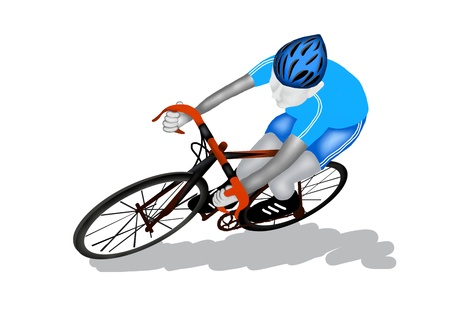 one wheel bike: Cycling   Font View of A Professional Sport Athletes Riding His Bicycle in A Road Race