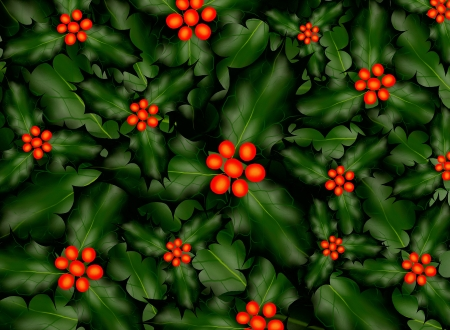 A Holly Pattern Background for Christmas Stock Photo - 14792335