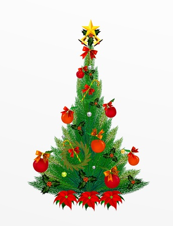 Christmas Pine Tree and Christmas decoration Stock Photo - 14792314