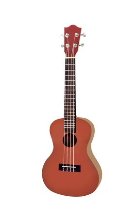 Hand Drawing Of Modern Brown Color Hawaii Ukulele Guitar A Small Stock Photo Picture And Royalty Free Image 16248638