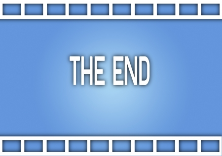 slide show: Movie Film Strip from A Movie Production with Word  The End