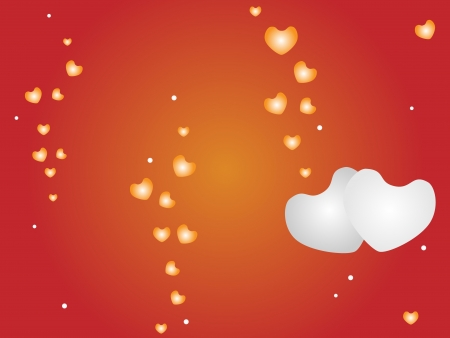 Love Concept, Bubble Heart Templete and Bokeh Lights on Red Color Background with Copy Space for Text Decorated Stock Vector - 17283474