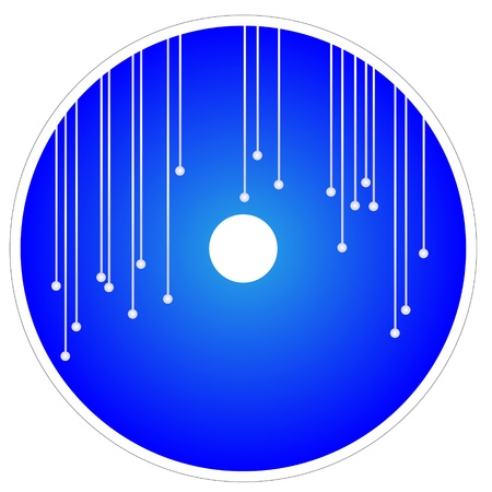 Elegant Abstract Template of CD and DVD Cover in Blue Color Background Stock Vector - 17283465