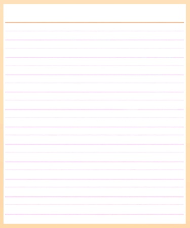A Sheet of Blank Brown Lined on White Paper Background with Copy Space for Text Decorated Stock Photo - 17417541