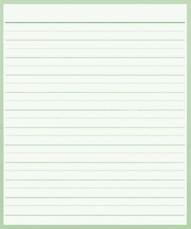 A Sheet of Blank Green Lined on White Paper Background with Copy Space for Text Decorated Stock Photo - 17417524