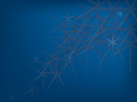 Elegant Template of The Stars Sparking Lights on Deep Blue Background with Copy Space for Text Decorated  Stock Photo - 17544245