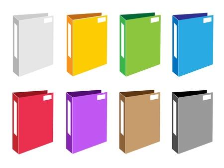 Illustration Collection de Colorsful Folder Icons Ic�nes de fichiers ou Foloder bureau pour les sauvegardes et le stockage des donn�es