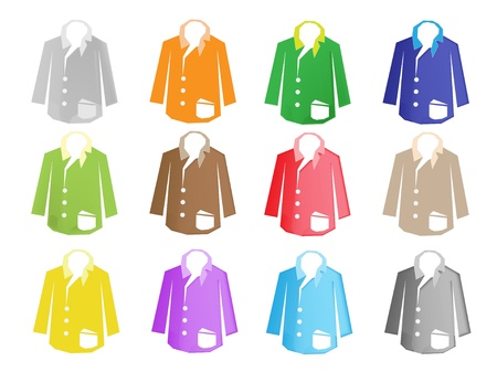 An Illustration Collection of Colorsful Business Suit in Twelve Assorted Colours Stock Vector - 17639415