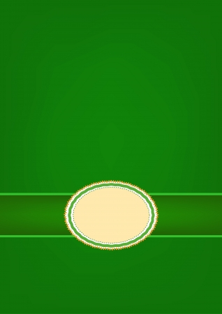 A Oval Vintage Label Pattern on Beautiful Green Abstract Background with Copy Space for Text Decorated  Vector