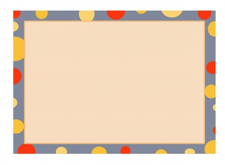 Abstract Luxury Light Orange Background with An Grey Frame Border and Multi Shade Yellow Round Bubble, Copy Space for Text Decorated Stock Vector - 18318666