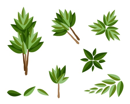 houseplant: An Illustration Collection of Landscaping Tree Symbols or Isometric Trees and Plants for Garden Decoration Illustration