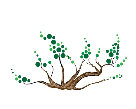 Ecological Concept, An Illustration of Landscaping Tree Symbols or Isometric Abstract Green Tree and Plant for Garden Decoration
