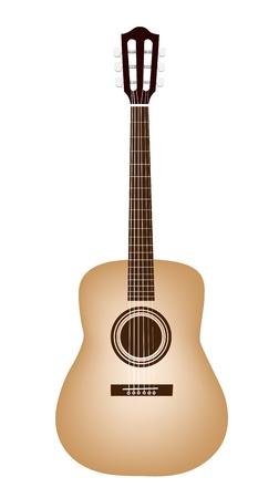 guitarra clásica: Instrumento de m�sica, una ilustraci�n de una guitarra cl�sica individual en el fondo blanco Vectores