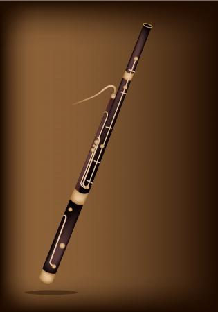 fagot: Piękna klasyczna Fagot na ciemnym tle brązowy