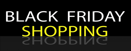 Black Friday Shoopng Banner for Start Christmas Shopping Season  Vector