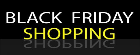 Black Friday Shoopng Banner for Start Christmas Shopping Season Stock Vector - 21145370