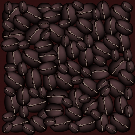piccolo: Coffee Time, An Illustration Dark Brown Colors of Beautiful Roasted Coffee Beans Stack Background
