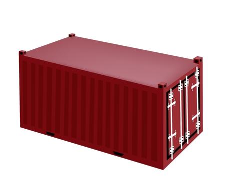 overseas: Un Contenedor de carga Ilustraci�n, Freight Container o Transporte de Contenedores de almacenamiento port�til, env�o de ultramar u Office Mobile.
