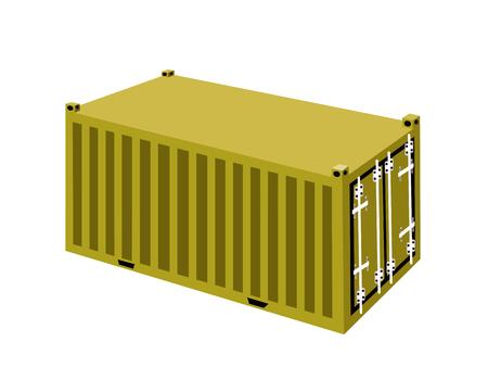 freight container: Un ejemplo contenedores de carga amarillas, carga de contenedores o para el transporte de contenedores de almacenamiento port�til, env�o de ultramar o de Office Mobile. Vectores