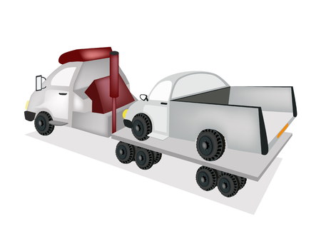 An Illustration of Tow Truck Illustration