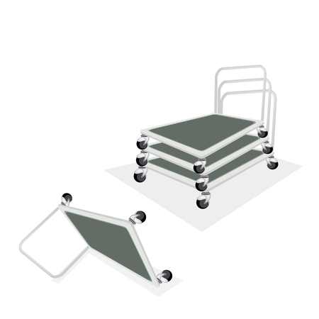 warehouse equipment: An Illustration of Warehouse or Construction Equipment, Hand Trucks or Dolly Trucks   Illustration