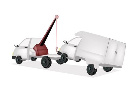 An Illustration of Auto Wrecker Tow Truck Vektoros illusztráció