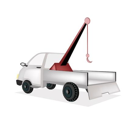 breakdown truck: An Illustration of Auto Wrecker Tow Truck