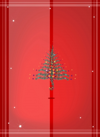 Red Color Festive Background of Lovely Christmas Balls or Christmas Ornaments Decorated on Christmas Tree   Vector