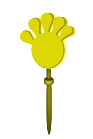 anti noise: An Illustration of Plastic Hand Clap Toy, Used for Applause or Against Government in Thailand.