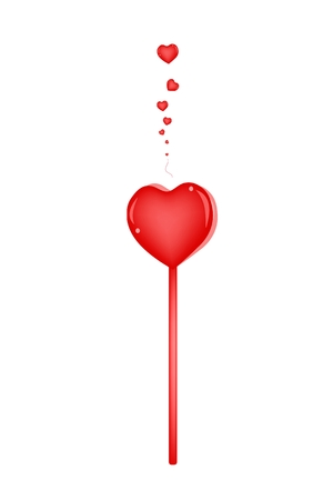 fanfare: An Illustration of Heart Shape of Pink Plastic Hand Clap Toy  Illustration