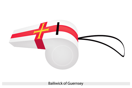 bailiwick: An Illustration of The Gold cross within The Cross of St  George on A White Field of The Bailiwick of Guernsey Flag, The Sport Concept and Political Symbol  Illustration