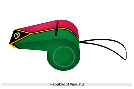 bordering: Un verde y rojo de campo con un color amarillo-fimbriado Pall borde de un Tri�ngulo Negro con colmillos de jabal� S�mbolo en el alzamiento de La Rep�blica de Vanuatu Bandera en un silbido.