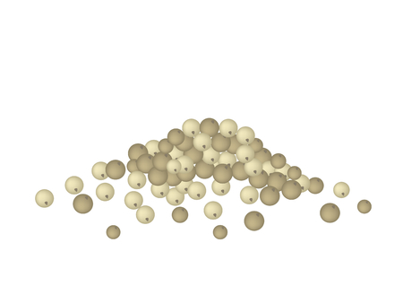 Vegetable and Herb, Vector Illustration Stack of Dry Peppercorns Used for Seasoning in Cooking.  Illustration