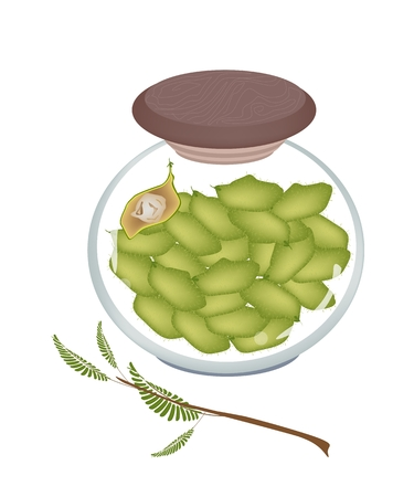 dietary fiber: Garbanzo Bean Pods s or Chick Pea Pods in A Glass Jar, A Good Source of Dietary Fiber, Vitamins and Minerals