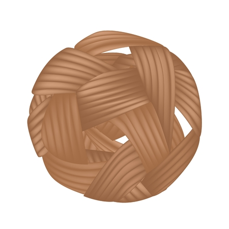 Traditional Sport of Thailand Rattan Ball or Takraw, The Southeast Asia Favorite Sports Isolated on A White Background.