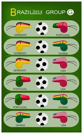 nações: Brasil 2014 Grupo G, as bandeiras de 4 Na