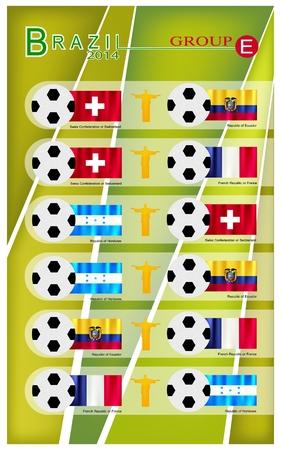 nações: Brasil 2014 Grupo E, Bandeiras de 4 Na